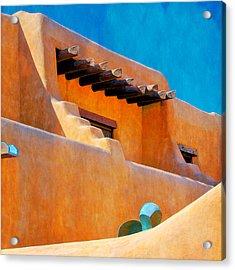 Adobe Levels, Santa Fe, New Mexico Acrylic Print