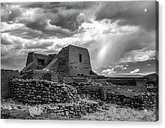 Acrylic Print featuring the photograph Adobe, Stones, And Rain by James Barber