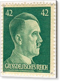 Adolf Hitler 42 Pfennig Stamp Classic Vintage Retro Acrylic Print