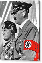 Adolf Hitler And Fellow Fascist Dictator Benito Mussolini October 26 1936 Number Three Color Added  Acrylic Print