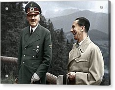 Adolf Hitler Joseph Goebbels Berghof Retreat  Number 2 Agfacolor Heinrich Hoffman Photo Circa 1942 Acrylic Print