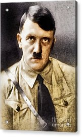 Adolf Hitler, Leader Of The Nazi Party, Wwii. History Portraits Acrylic Print by John Springfield