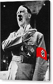 Adolf Hitler Ranting 1  Acrylic Print by David Lee Guss