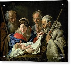 Adoration Of The Infant Jesus Acrylic Print