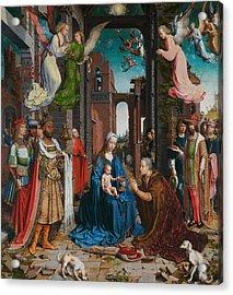Adoration Of The Magi Acrylic Print by Jan Gossaert