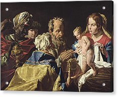 Adoration Of The Magi  Acrylic Print by Matthias Stomer