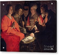 Adoration Of The Shepherds Acrylic Print