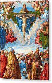 Adoration Of The Trinity Acrylic Print by Munir Alawi