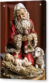 Adoring Santa Acrylic Print by Bonnie Barry