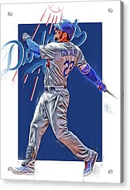 Adrian Gonzalez Los Angeles Dodgers Oil Art Acrylic Print