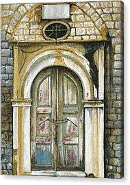 Adrianou Street Acrylic Print