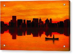 Adrift Acrylic Print by Rick Baker