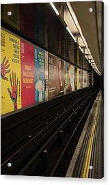 Ads Underground Acrylic Print