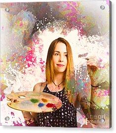 Adult Art Class Painter Acrylic Print by Jorgo Photography - Wall Art Gallery