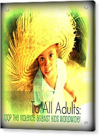 Adults Only Acrylic Print by Fania Simon
