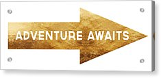 Adventure Awaits- Art By Linda Woods Acrylic Print by Linda Woods