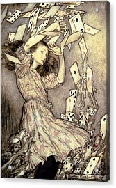 Adventures In Wonderland Acrylic Print by Arthur Rackham