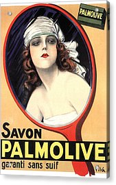 Advertisement For Palmolive Soap Acrylic Print by Emilio Vila