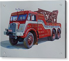 Acrylic Print featuring the painting Aec Militant Dennis's. by Mike Jeffries