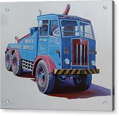 Acrylic Print featuring the painting Aec Militant Lloyds by Mike Jeffries