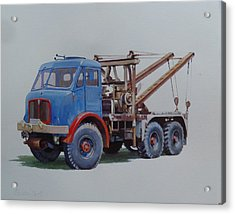 Acrylic Print featuring the painting Aec Militant Wrecker. by Mike Jeffries