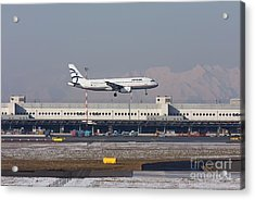 Acrylic Print featuring the photograph Aegean Airbus A320 003 - Sx-dvt by Amos Dor
