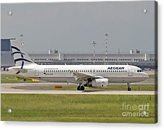 Acrylic Print featuring the photograph Aegean Airbus A320 Sx-dvt  by Amos Dor