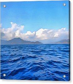 Aegean Blue Acrylic Print by Tracey Harrington-Simpson
