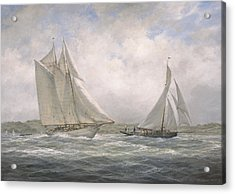 Aello Beta And Marigold Off The Isle Of Wight Acrylic Print by Richard Willis