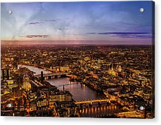 Aereal City Acrylic Print by Digital Art Cafe