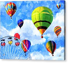 Acrylic Print featuring the mixed media Aerial Birth by Mark Tisdale