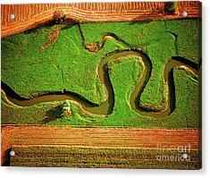Aerial Farm Stream Acrylic Print