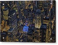 Aerial New York City Skyscrapers Acrylic Print