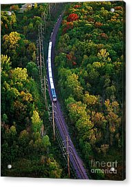 Aerial Of  Commuter Train  Acrylic Print