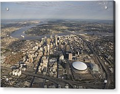 Aerial Of New Orleans Looking East Acrylic Print by Tyrone Turner