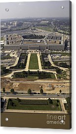 Aerial Photograph Of The Pentagon Acrylic Print by Stocktrek Images