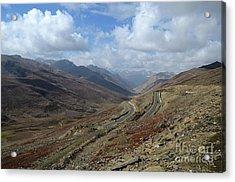 Aerial Shot Of Mountainous Karakoram Highway Babusar Pass Pakistan Acrylic Print