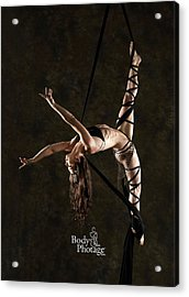 Aerial Splits With Black Silks Acrylic Print