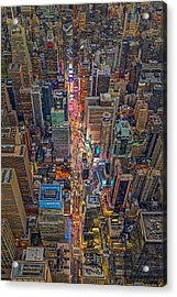 Aerial Times Square New York City  Acrylic Print