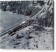Acrylic Print featuring the photograph Aerial Train Wreck by Jeanne May
