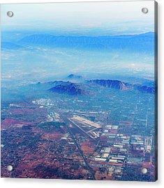 Aerial Usa. Los Angeles, California Acrylic Print by Alex Potemkin