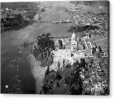 Acrylic Print featuring the photograph Aerial View Northward Over Olympia by Merle Junk