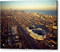 Aerial View Of A City, Old Comiskey Acrylic Print by Panoramic Images