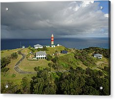 Aerial View Of Cape Moreton Lighthouse Precinct Acrylic Print