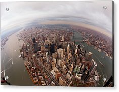 Aerial View Of City Acrylic Print by Eric Bowers Photo