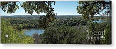 Aerial View Of Large Forest And Lake Acrylic Print
