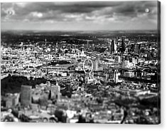 Aerial View Of London 6 Acrylic Print by Mark Rogan