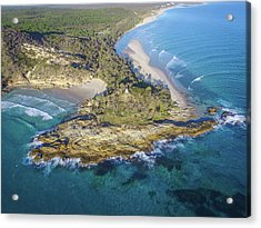 Aerial View Of North Point, Moreton Island Acrylic Print