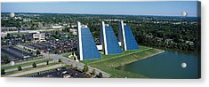 Aerial View Of Office Buildings Acrylic Print by Panoramic Images