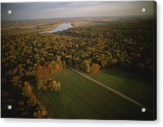 Aerial View Of Shiloh. The Tennessee Acrylic Print by Sam Abell